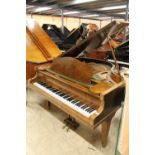 Bechstein, London (c1930s) A 4ft 8in grand piano in a walnut case on square tapered legs.