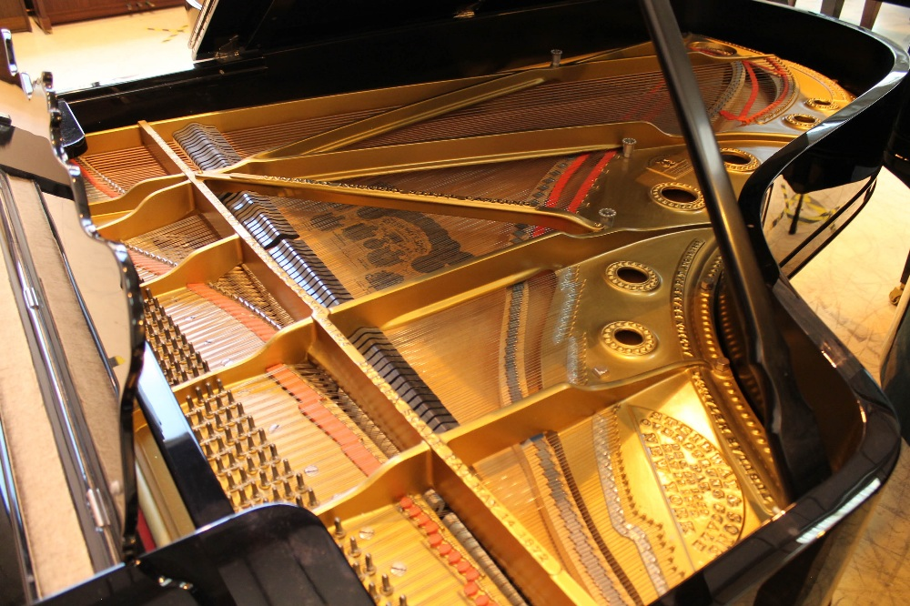 Steinway (c1902) A 7ft 5in Model C grand piano in a bright ebonised case on square tapered legs; - Image 4 of 8