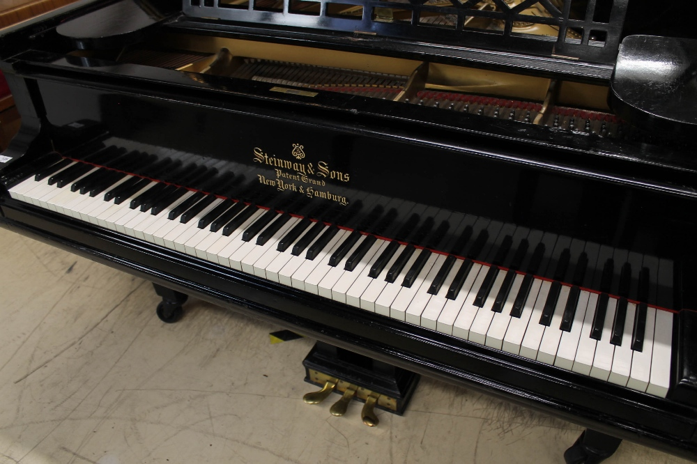 Steinway (c1898) A 6ft 2in 88-note Model A grand piano in an ebonised case on square tapered legs. - Image 2 of 8