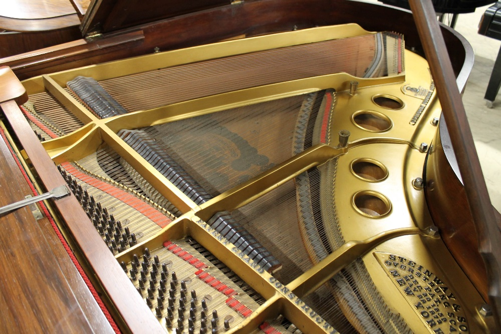 Steinway (c1904) A 5ft 10in Model O grand piano in a rosewood case on square tapered legs; - Image 4 of 9