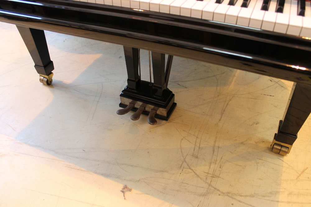 Steinway (c1902) A 7ft 5in Model C grand piano in a bright ebonised case on square tapered legs; - Image 3 of 8