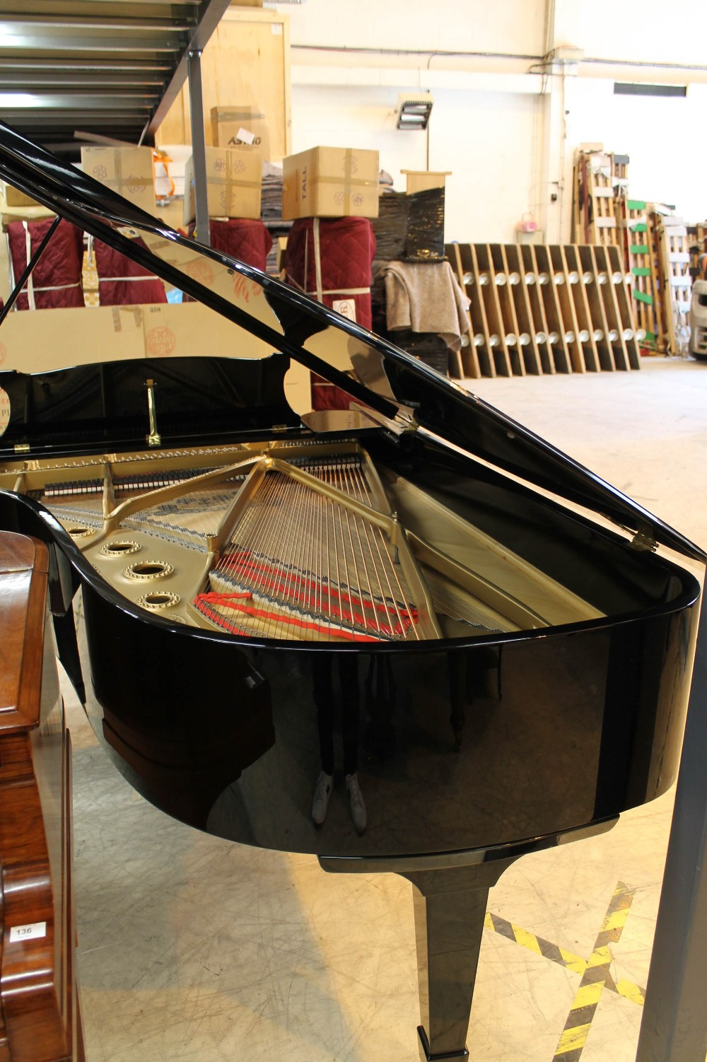Steinway (c1890s) An 85-note 6ft 11in Model B grand piano in a bright ebonised case on square - Image 7 of 8