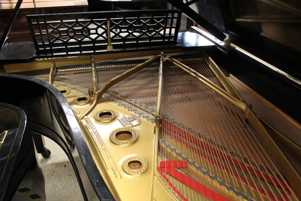 Steinway (c1898) A 6ft 2in 88-note Model A grand piano in an ebonised case on square tapered legs. - Image 8 of 8