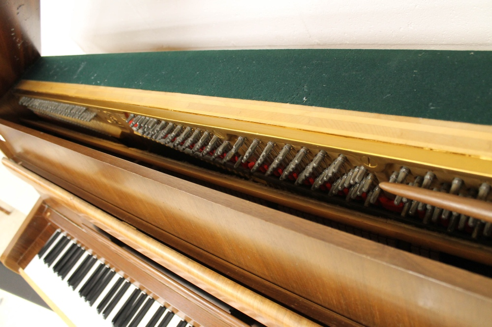 Steinway (c1964) A Model Z upright piano in a modern style walnut case; together with a stool. - Image 4 of 5