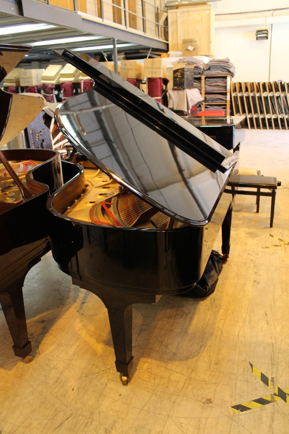 Steinway (c1971) A 6ft 11in Model B grand piano in a bright ebonised case on square tapered legs; - Image 7 of 9