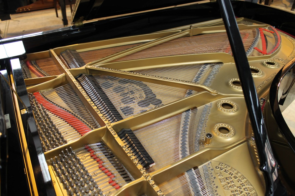 Steinway (c1890s) An 85-note 6ft 11in Model B grand piano in a bright ebonised case on square - Image 4 of 8