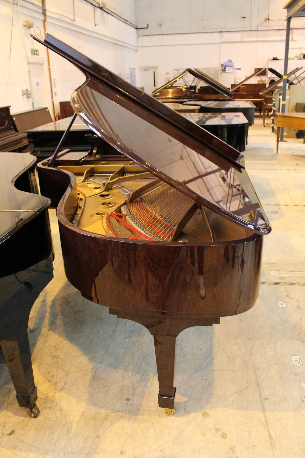 Steinway (c2009) A 6ft 11in Model B grand piano in a bright pommele mahogany case on square - Image 7 of 9