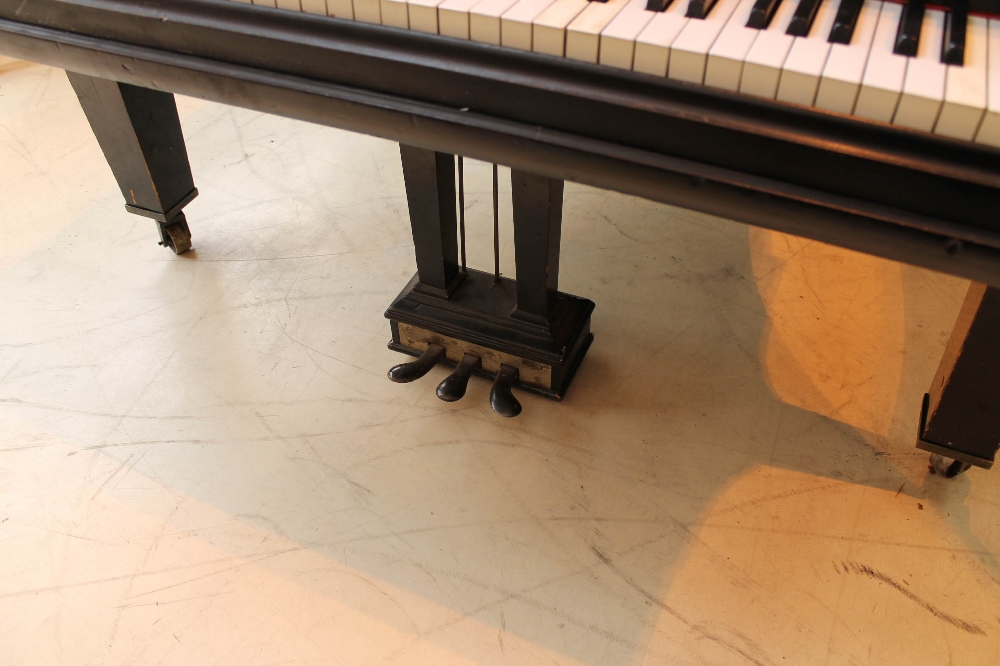 Steinway (c1888) A 9ft concert grand piano in an ebonised case on turned legs. - Image 3 of 8