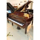 Yamaha (c1986) A 5ft 3in Model G1RE grand piano in a bright mahogany case on square tapered legs;