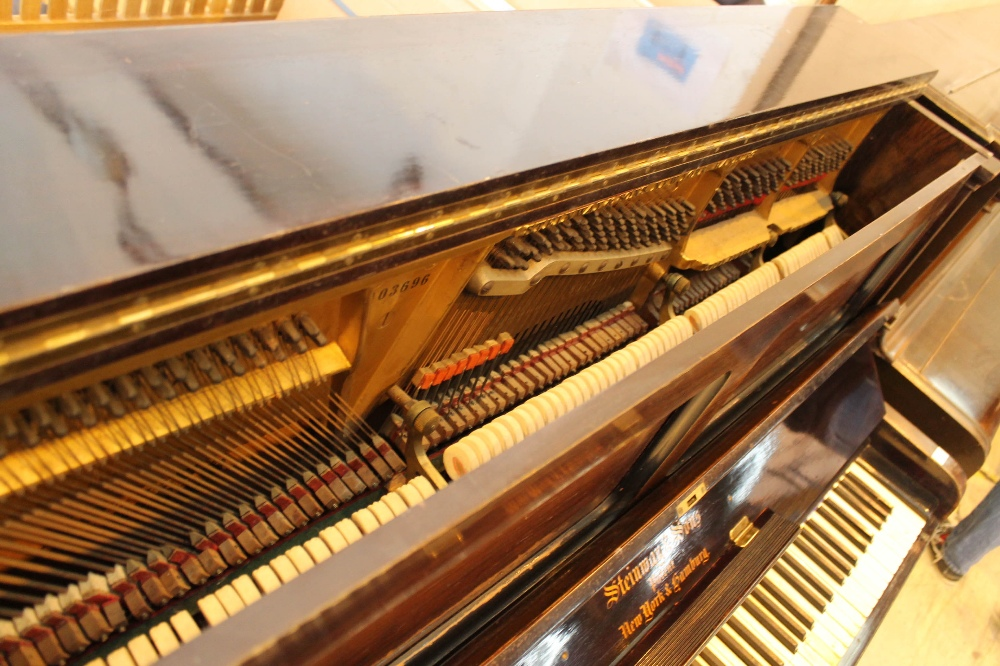 Steinway (c1902) A Style 1 upright piano in a rosewood case. - Image 4 of 4