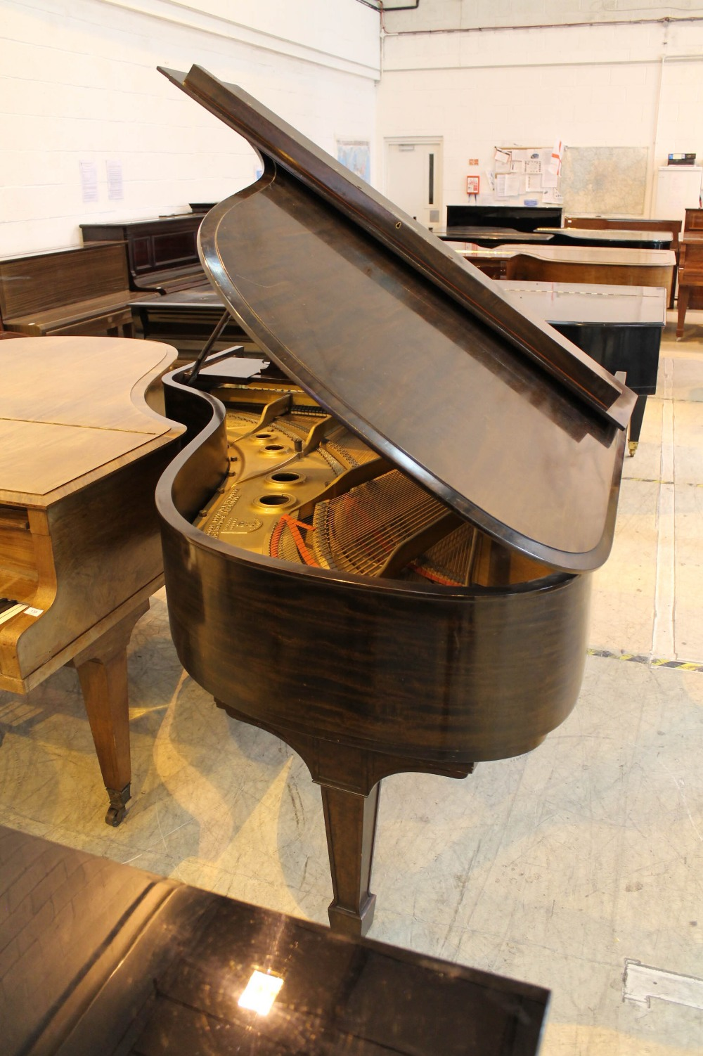 Steinway (c1921) A 191cm New York Model A grand piano in a mahogany case on square tapered legs. - Image 7 of 8