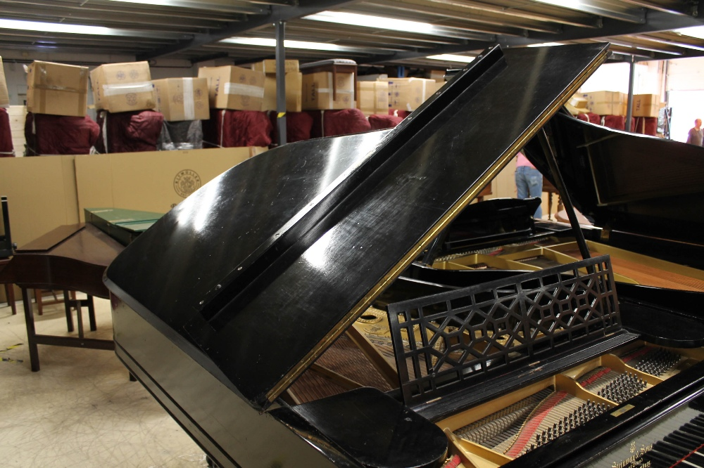 Steinway (c1898) A 6ft 2in 88-note Model A grand piano in an ebonised case on square tapered legs. - Image 6 of 8