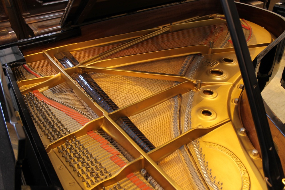 Steinway (c1971) A 6ft 11in Model B grand piano in a bright ebonised case on square tapered legs; - Image 4 of 9