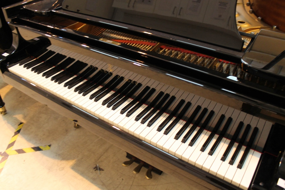Steinway (c1983) A 6ft 2in Model A grand piano in a bright ebonised case on square tapered legs. - Image 2 of 8