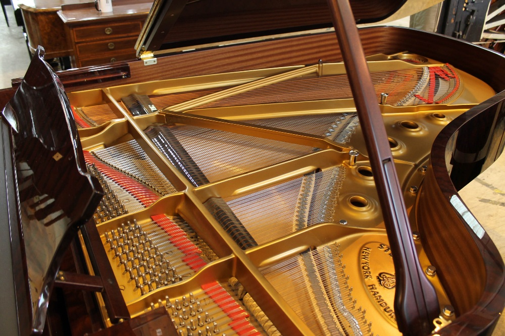 Steinway (c2009) A 6ft 11in Model B grand piano in a bright pommele mahogany case on square - Image 4 of 9