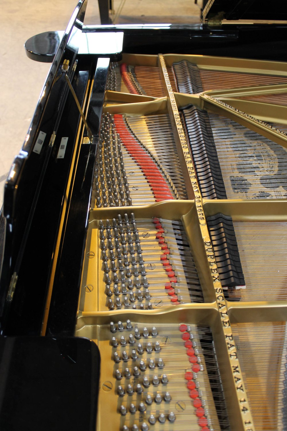 Steinway (c1890s) An 85-note 6ft 11in Model B grand piano in a bright ebonised case on square - Image 5 of 8