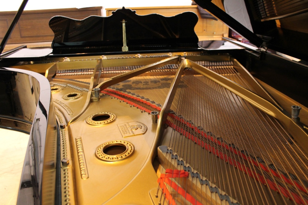 Steinway (c1902) A 7ft 5in Model C grand piano in a bright ebonised case on square tapered legs; - Image 8 of 8