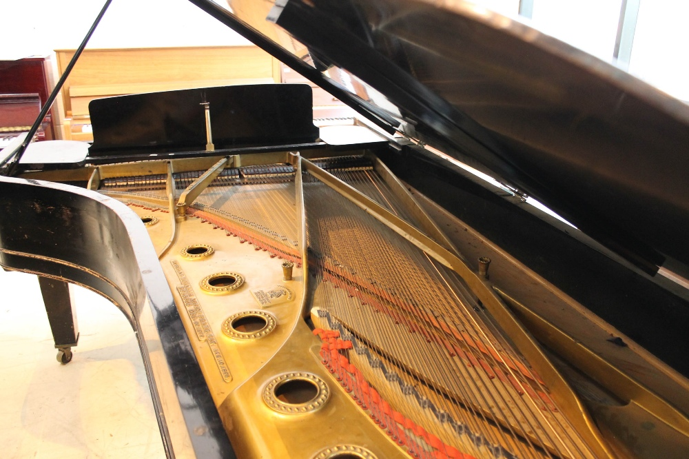 Steinway (c1888) A 9ft concert grand piano in an ebonised case on turned legs. - Image 8 of 8