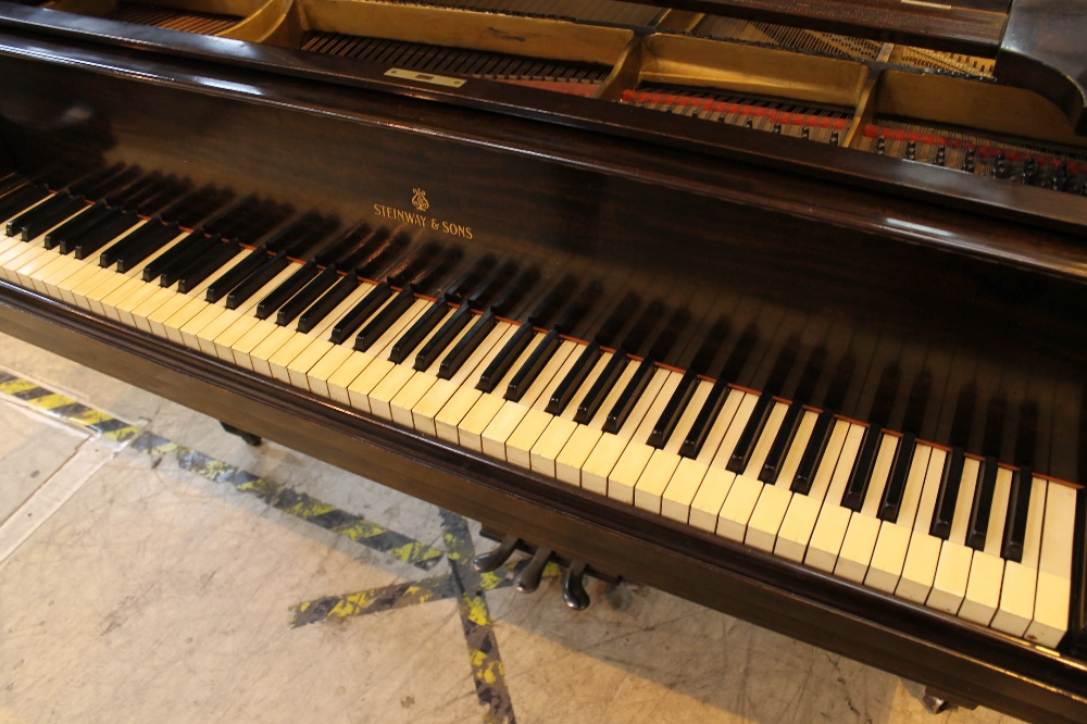 Steinway (c1921) A 191cm New York Model A grand piano in a mahogany case on square tapered legs. - Image 2 of 8