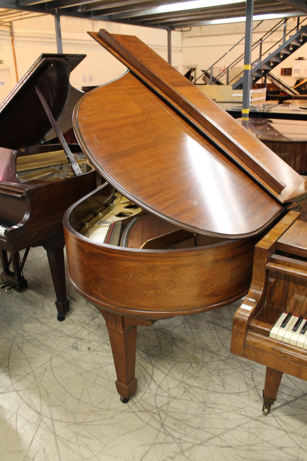 Steinway (c1904) A 5ft 10in Model O grand piano in a rosewood case on square tapered legs; - Image 7 of 9