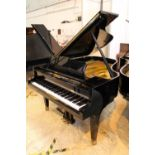 Grotrian Steinweg (c1993) A 6ft 3in Model 192 grand piano in a bright ebonised case on square
