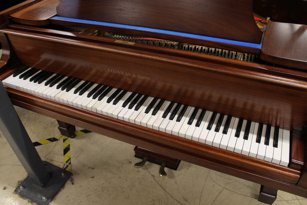 Steinway (c1926) An 88-note 5ft 10in Model O grand piano in a mahogany case on square tapered legs; - Image 2 of 8