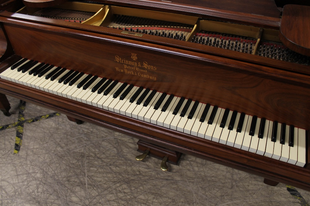 Steinway (c1904) A 5ft 10in Model O grand piano in a rosewood case on square tapered legs; - Image 2 of 9