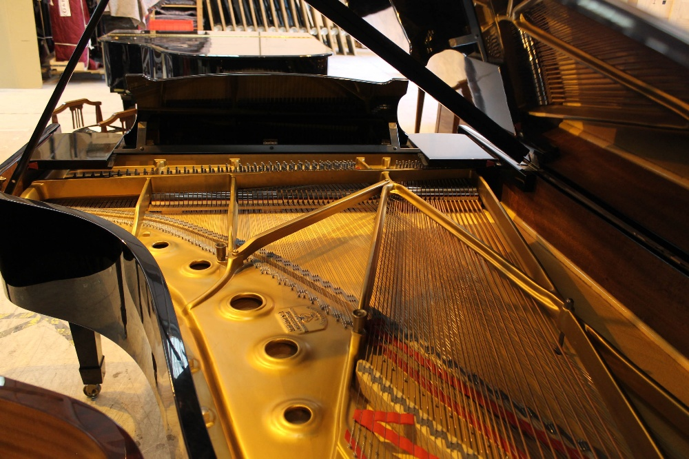 Steinway (c1971) A 6ft 11in Model B grand piano in a bright ebonised case on square tapered legs; - Image 8 of 9