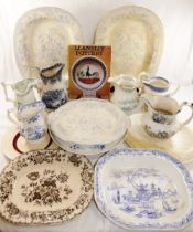 A collection of 11 items of Llanelly Pottery belonging to the late Dilys Jenkins,