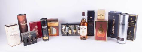 Collection of Whiskey and Brandy, comprising, 12 Whiskies/ Single Malts, and 2 Brandy's , KWV 20yr