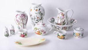 Portmeirion, Botanic Garden series china ware also Clarice Cliff corn dish (11).