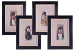 A set of four Domingo limited edition prints including 'Study of Carla 1', 'Study of Carla 2', '