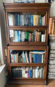 An oak four section Globe Wernicke type bookcase (dismantled).