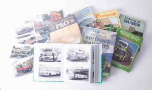 A large collection of bus memorabilia comprising various postcards, well kept books, photographs,