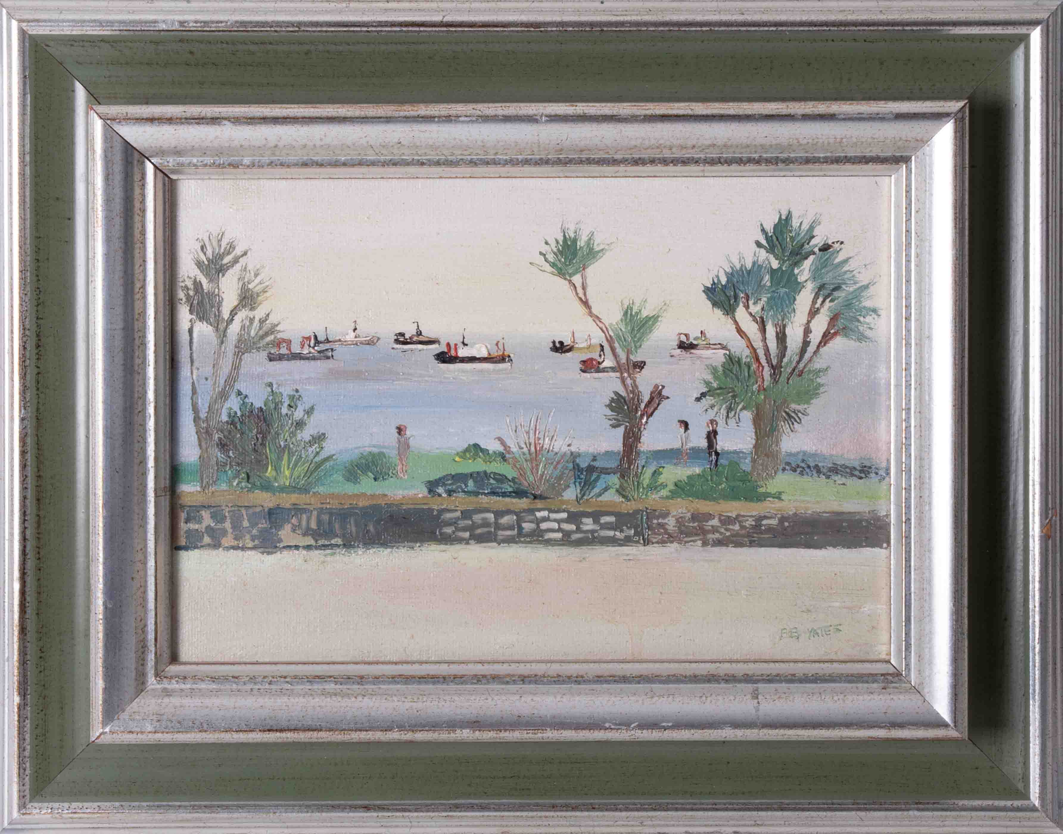 Fred Yates (1922-2008) 'Penzance' oil on canvas, 17cm x 25cm, signed, titled on reverse (No 14),