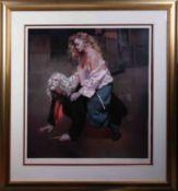 Robert Lenkiewicz (1941-2002), 'Painter with Lisa - Aristotle Theme', signed artist proof