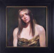 Robert Lenkiewicz (1941-2002), 'Study Of Elain With Sari', oil on canvas, signed twice