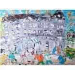 Sean Hayden, signed oil on canvas 'Duke of Cornwall Hotel, Plymouth', 62cm x 80cm, unframed.