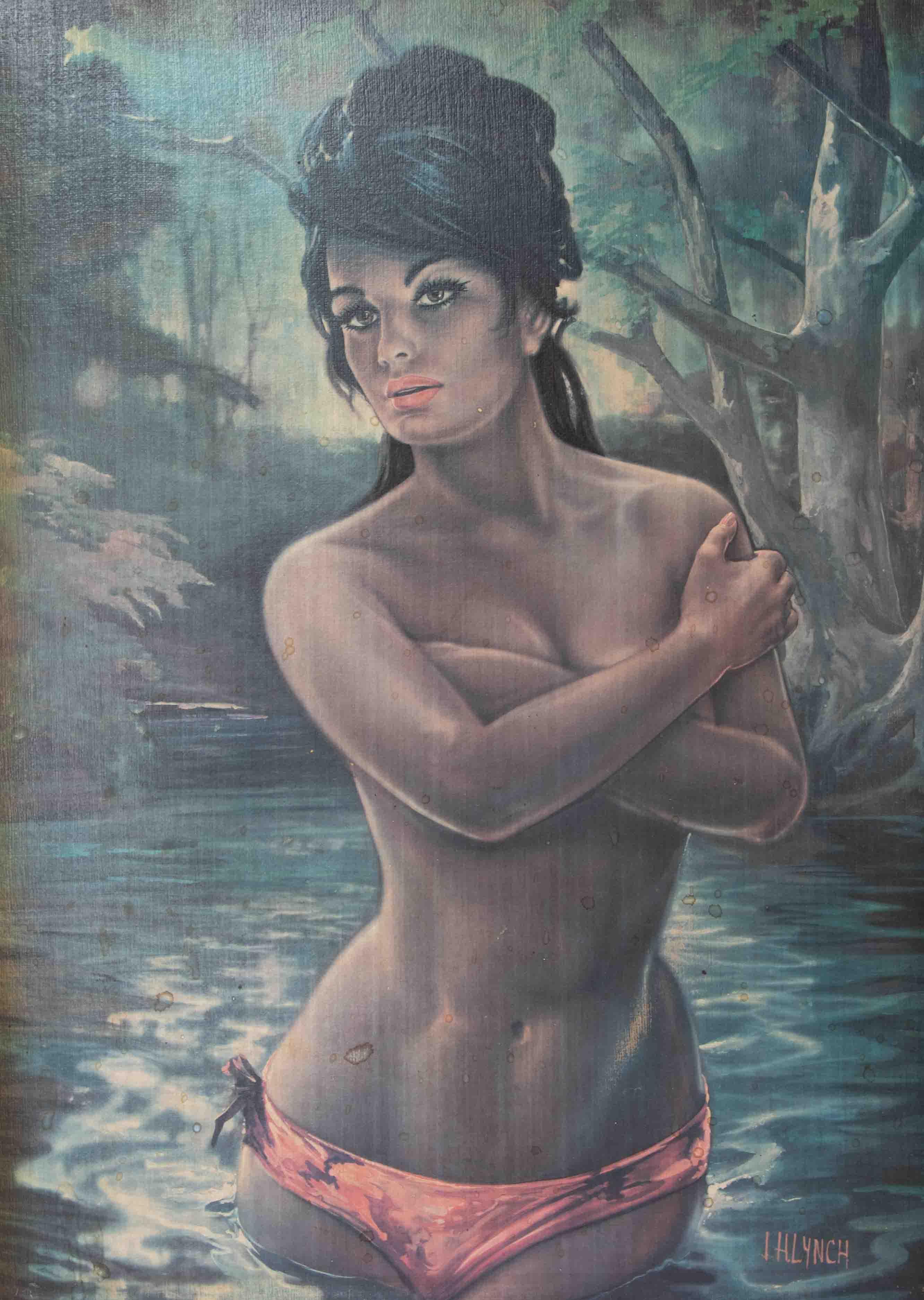 J.Lynch, 'Nymph' print, 68cm x 49cm, framed. - Image 2 of 2