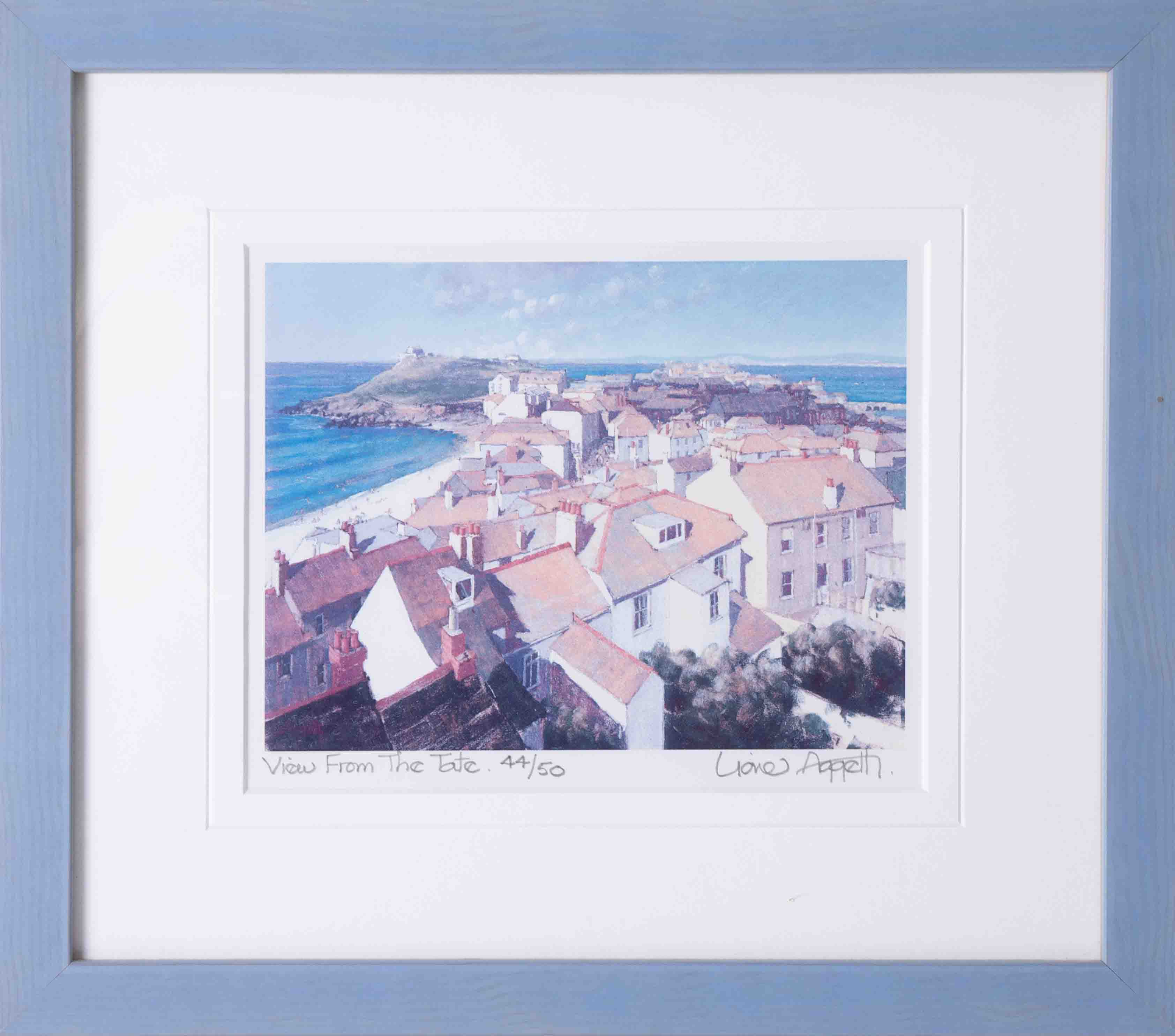 Lionel Aggetts, two limited edition prints including 'Harbour St.Ives' 41/50 and 'View From The - Image 6 of 6