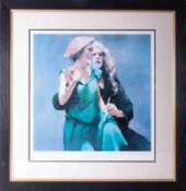 Robert Lenkiewicz (1941-2002) 'Bella With The Painter', signed limited edition print 549/550, 50cm x