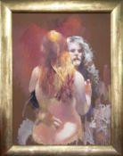 Robert Lenkiewicz (1941-2002) oil on canvas 'Painter With Brigitte', St. Antony Theme, Painter