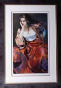 Robert Lenkiewicz (1941-2002) 'Esther with Silver Locket', signed limited edition print 412/500,