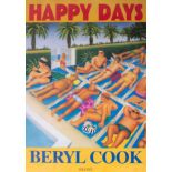 Beryl Cook (1926-2008) 'Happy Days' poster 59cm x 42cm, now out of print issued in 1995 by her