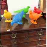 Patrick Murphy, Five 'Belonging Pigeons' edition of 100, hand painted polymer, signed to base,