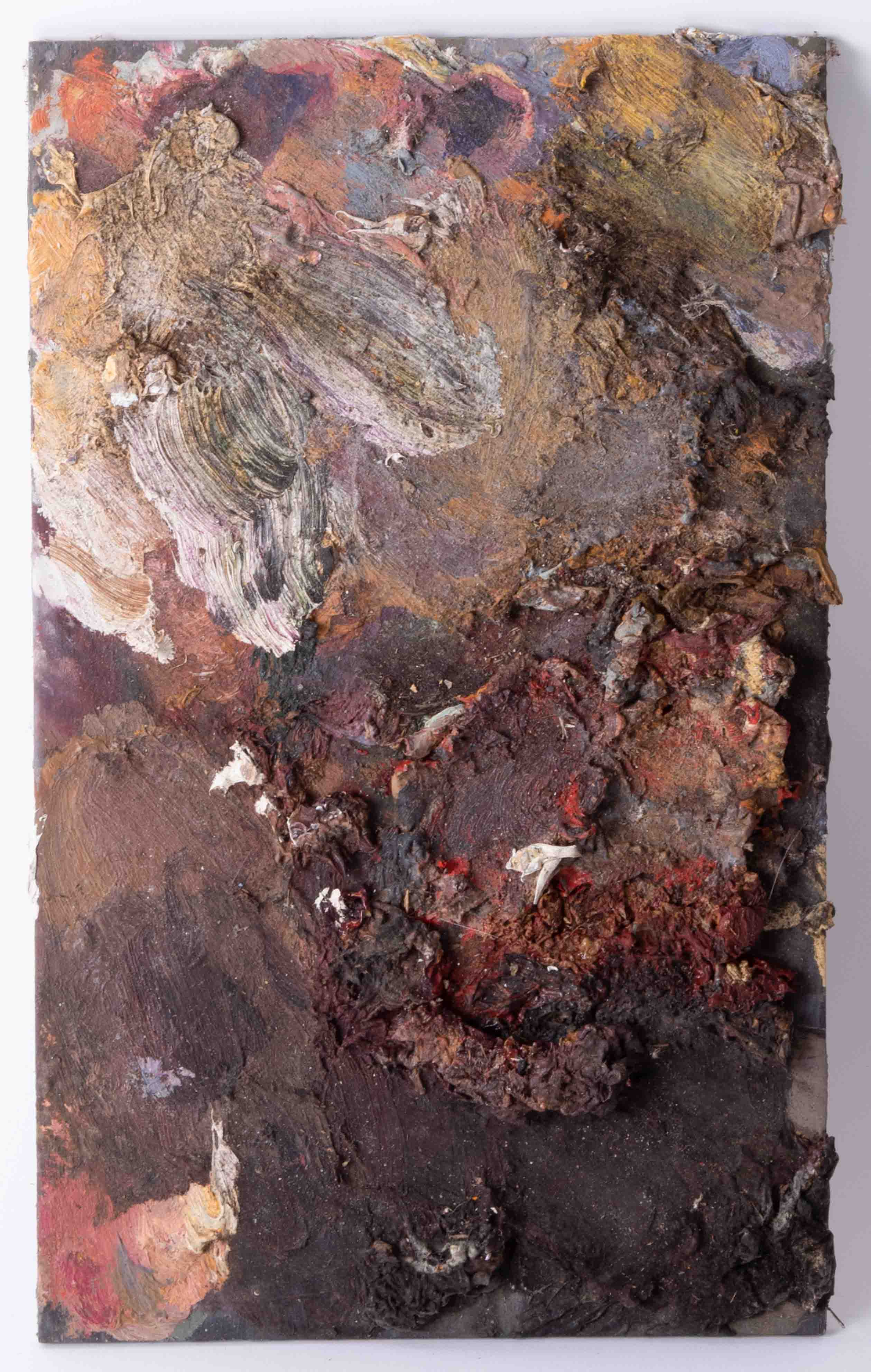 Robert Lenkiewicz (1941-2002) four artist palettes, unframed, Provenance, from a private studio that - Image 4 of 5