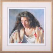 Robert Lenkiewicz (1941-2002) 'Study of Anna', signed limited edition print 53/750, framed and
