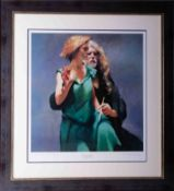 Robert Lenkiewicz (1941-2002) 'Bella with the Painter', signed limited edition print 257/550, 50cm x