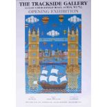 A Brian Pollard poster 'The Trackside Gallery Exhibition' 2003, signed, limited edition 434/500,