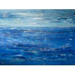 Stephen Felstead (contemporary artist, West Cornwall) a large acrylic on canvas, 'Deep', 111cm x